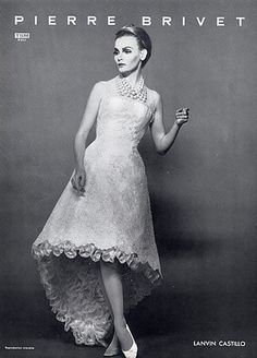 Lanvin-Castillo Couture Evening Gown, 1964 [The original high-low dress]