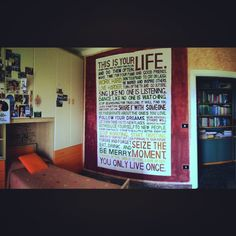 This is your life! This is my room's wall.. I did last summer... How stressful it was but at the end I'm really satisfied with the result
