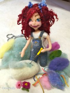 Phoebe Marie of OooDolls is getting ready for Easter. Needle Felting
