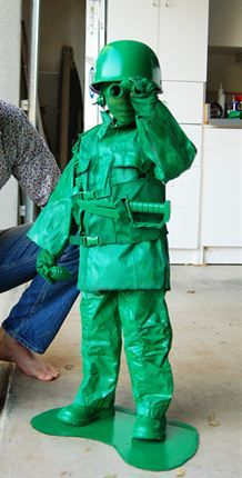 Finn just asked me yesterday if he could be an army guy for halloween, this would be perfect!