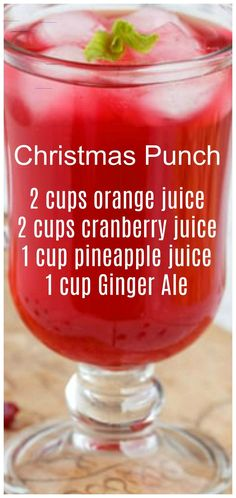 Christmas Punch ~ so simple to make and delicious! We like to serve this punch on Christmas morning. Christmas Punch ~ so simple to make and delicious! We like to serve this punch on Christmas morning. Holiday Drinks, Summer Drinks, Fun Drinks, Healthy Drinks, Holiday Recipes, Holiday Dinner, Non Alcoholic Christmas Punch, Christmas Cocktails, Healthy Christmas Recipes