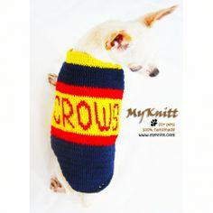 Adelaide CROWS Australia Football League AFL Football Team Crochet Handmade by Myknitt #handmade #CROWS #Football #Sport #Crochet #myknitt #dog #pet #myknitt #Adelaide #Australia #AFL #AustraliaFootballLeague