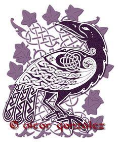 Celtic Raven III by twistedstrokes.deviantart.com on @deviantART