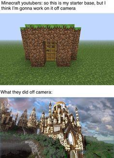 Lol Memes, Stupid Funny Memes, Funny Relatable Memes, Funny Posts, True Memes, Minecraft Memes, Minecraft Designs, Minecraft Funny Quotes, Minecraft Comics