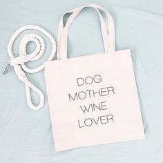 Dog Mother. Wine Lover. These simply designed canvas tote bags will be the shopping bag you reach for time and time again. They are roomy enough to hold all your essentials but not so large that you feel like you're lugging a suitcase around. Made from lightweight cotton canvas, they are not only durable but both classic and trendy. 10% of your purchase is donated to help dogs in need at local animal shelters. #dogmom #winelover #dogmotherwinelover Gifts For Pet Lovers, Gifts For Dad, Dog Lovers, Animal Birthday, Crazy Dog, Puppy Pictures, Beautiful Dogs, Dog Mom, Canvas Tote Bags