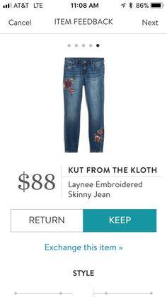Kut from the Kloth Laynee Embroidered Skinny Jean https://www.stitchfix.com/referral/6343579?sod=w&som=c