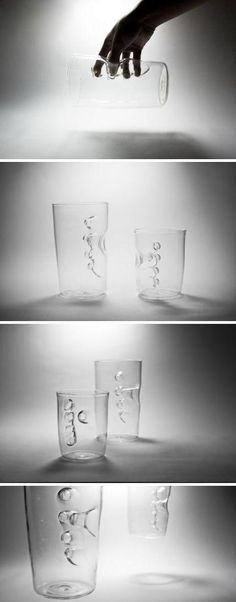 Creative portable  water cup design  looks like holding ocean   August 2013