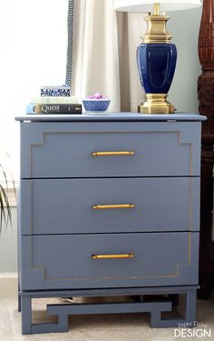 This nice Ikea hack at Paper Daisy Design has three pulls from the Liberty Hardware Artesia Collection adorning the front. Love the paint job!