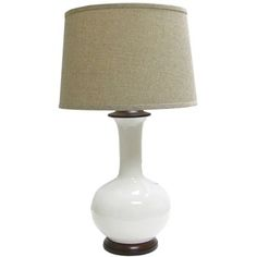 Cream Ceramic Lamp Base with Brown Shade | Shop Hobby Lobby