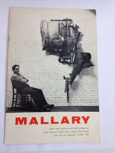 Robert Mallary Original 1961 Exhibition Brochure Catalog Recent Wall Sculpture Allan Stone Mid Century Modern Art Sculpture ModernWalArt