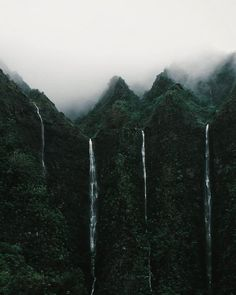 ♕pinterest/amymckeown5 Scenic Photography, Landscape Photography, Nature Photography, Dark Mountains, Dark Landscape, Green Earth, Beautiful World, Beautiful Places, Beautiful Forest