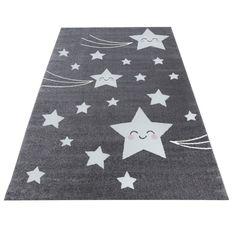 Lasten tähdenlento matto valkoinen - Tuppu-Kaluste Grey Rugs, Bunt, Rug Size, Playroom, Nursery, Kids Rugs, Stitch, Design, Crafts