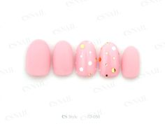 pink with gold/silver dots