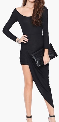 Angelica Knot Dress iN BLACK