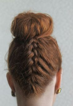 Hairstyle by Lilac Bloom. hairstyle, hair, updo, braid, bun, french braid, bridal hairstyle, romantic hairstyle