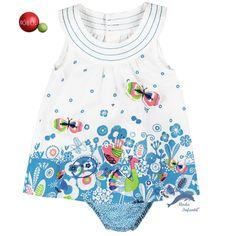 Vestido bebe BOBOLI batista estampado con braguita