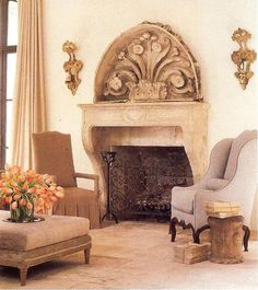 Veranda Mag, April 2010 pg 3.2 French Antique Fireplace fr Chateau Domingue