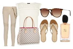 """OOTD Louis Vuitton Calvi Handbag ♥"" by hayley8974 ❤ liked on Polyvore"
