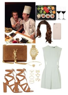 """""""Japanese restaurant with Harry;)"""" by tinateva ❤ liked on Polyvore featuring Riedel, Topshop, Yves Saint Laurent, Michael Kors, Forever 21, Gianvito Rossi, Black Apple and Tai"""