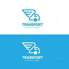 Transport Logo by Super Pig Shop on Creative Market