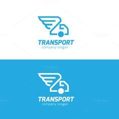 Transport Logo by Super Pig Shop on Creative Market