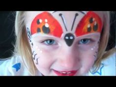 LADYBUG FACE PAINT TUTORIAL WITH STENCIL EYES