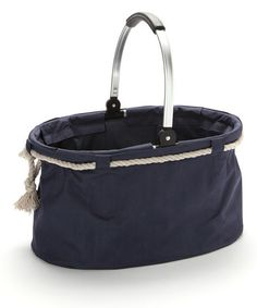 Take a look at this Blue Nautical Folding Basket by Dennis East International on #zulily today!