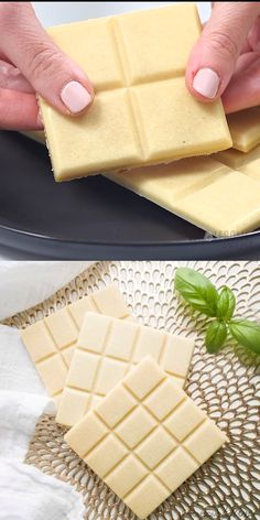 How to Make Sugar-Free White Chocolate (Low Carb, Keto) - Learn how to make sugar-free white chocolate bars - homemade with just 4 easy steps! You'll love this UPDATED low carb keto white chocolate recipe. Homemade Chocolate Bars, Chocolate Bar Recipe, White Chocolate Recipes, Low Carb Chocolate, Chocolate Molds, Chocolate Candies, Keto Cupcakes, Banana Cupcakes, Sugar Free White Chocolate