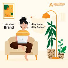 Stuck inside, No worries! Unlock your brand from Home Stay Home Stay Safe Inside Art, Best Digital Marketing Company, S Mo, Search Engine Optimization, Stay Safe, App Development, Social Media Marketing, Logo Design, Activities