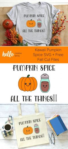 Fall is here and that means pumpkin spice! We're sharing 14 free SVG cut files for fall including a too adorable to be missed Kawaii Pumpkin Spice cut file! Cut these autumn designs using your Cricut or Silhouette. #SVG #Cricut #Silhouette #CutFiles Cricut Tutorials, Cricut Ideas, Christmas Svg, Plaid Christmas, Christmas Decor, Diy Home Decor On A Budget, Fall Is Here, Free Svg Cut Files, Fall Diy