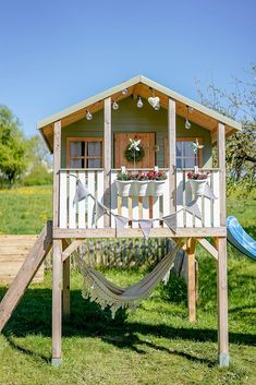 Outside Playhouse, Playhouse Outdoor, Outdoor Spaces, Outdoor Living, Kids Clubhouse, Gazebos, Kids Outdoor Play, Backyard Plan, Cottage Homes