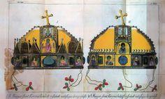A Szent Korona ábrázolása Decsy Sámuel 1792-ben készült könyvében