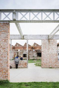 Vandriessche . old factory De Porre econversion  to city park . Ghent (28)