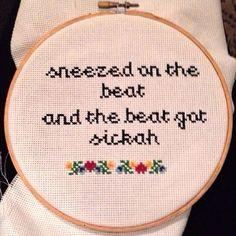 Cross stitch with a twist.