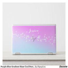 Purple Blue Gradient Haze Cool Personalised HP Laptop Skin
