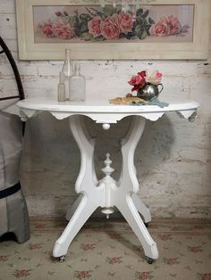 Great shabby chic table!