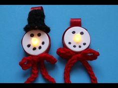 Snowman LED Tealight Christmas ornament with Crochet hat and scarf