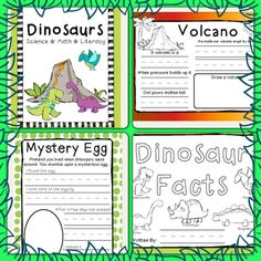 Dinosaurs! This fun dinosaur unit is a big hit with kindergarteners. It is 41 pages of fun activities. Only $4.00 on teachers pay teachers. Check out my blog for pictures of my classes projects. http://jrosace.blogspot.com/