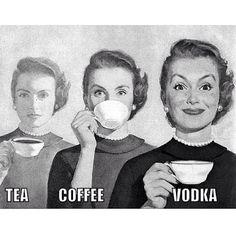 Tea..coffee.......vodka! #blamebetty #friday #vodka