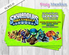 Bestselling SKYLANDERS Digital Invitation by PartyMunchkinShoppe, $10.00