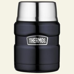Thermos King 16 oz Stainless Steel Food Jar with Spoon