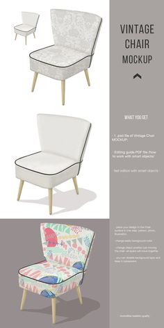 Club Design, Empty Spaces, Vintage Chairs, Art Object, Mockup, Accent Chairs, Armchair, Pattern, Furniture
