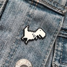 Pixel Dino Pin by MultiDesignStore on Etsy
