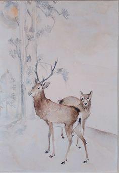 japán metszetek - Blogger.hu Japan Art, Watercolor Paintings, Moose Art, Animals, Japanese Art, Animales, Water Colors, Animaux, Animal