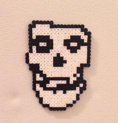 Misfits Skull Fridge Magnet  Pixel Fan Art  by BeadsByEmily2015