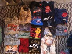 Dave Matthews Band T-Shirt LOT, 17 total. $280.00, via Etsy. Could use these for Corey's t-shirt quilt..