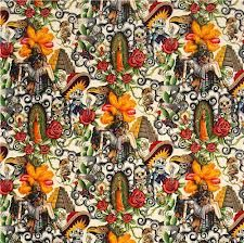 tela calaveras mexicanas