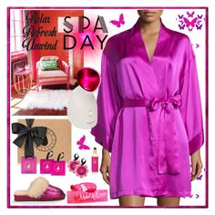 """Spa Day"" by yours-styling-best-friend ❤ liked on Polyvore featuring beauty, Kreme, Spongell, Josie Natori, Panasonic, UGG Australia, Pink, uggaustralia and spaday"