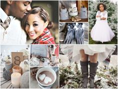 Cozy Winter Wedding Inspiration Board | upper left and right photos by Erich McVey Photography.