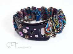 Bracciale viola scuro asimmetrico di ET handmade glass jewelry and more su DaWanda.com